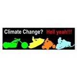 Enjoy Climate Change Bumper Car Sticker