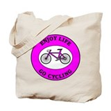 Enjoy Life Go Cycling Tote Bag
