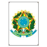 Brazil Coat of Arms Banner
