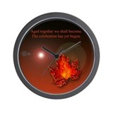 Cute Autumn groom Wall Clock