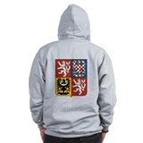 Czech Coat of Arms (Back) Zip Hoody