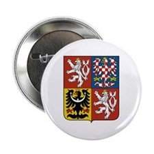 "Czech Coat of Arms 2.25"" Button"