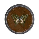 Aboriginal Swallowtail Wall Clock