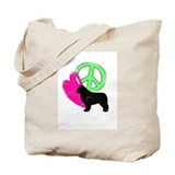 Peace Love &amp; Newfies Tote Bag