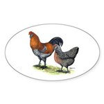 Ameraucana Poultry Oval Sticker (10 pk)