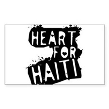 Heart For Haiti Rectangle Decal