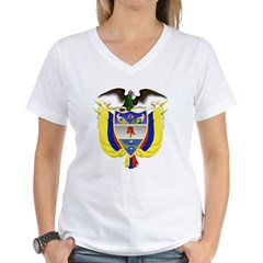 Colombia Coat of Arms Women's V-Neck T-Shirt