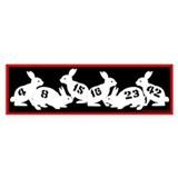 Lost Number Bunnies Bumper Car Sticker