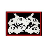 Lost Number Bunnies Rectangle Magnet (10 pack)