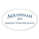 Aquinnah Inc. Oval Sticker (50 pk)