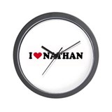 I LOVE NATHAN ~  Wall Clock