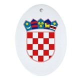 Croatia Coat of Arms Oval Ornament