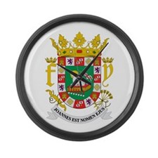 Puerto Rico Coat of Arms Large Wall Clock