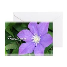 Purple Clematis Thank You Cards 5x7 (Pk of 20)