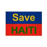 Save HAITI Rectangle Magnet (100 pack)
