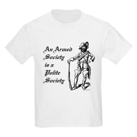An Armed Society Kids T-Shirt