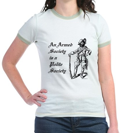 An Armed Society Jr. Ringer T-Shirt