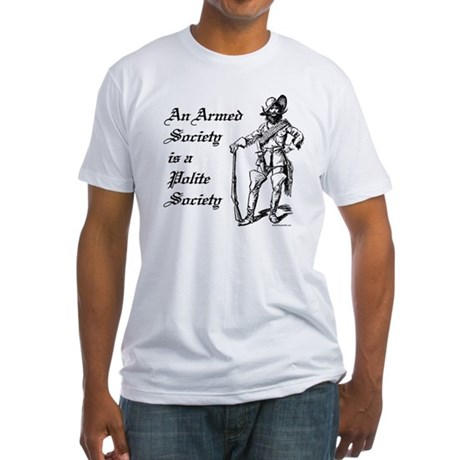 An Armed Society Fitted T-Shirt