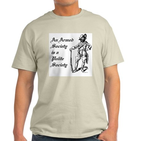 An Armed Society Ash Grey T-Shirt