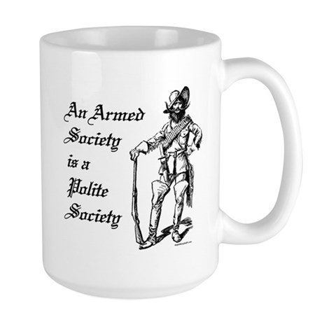 An Armed Society Large Mug