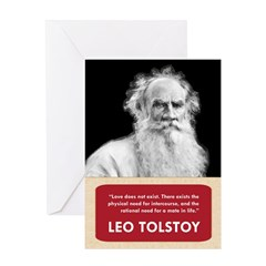 Leo Tolstoy Anti-Valentine's Day Card