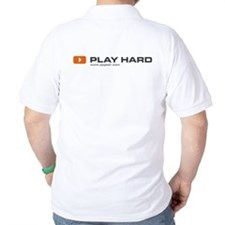 """Play hard"" Polo-style T-Shirt"