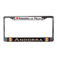 ANDORRA - License Plate Frame