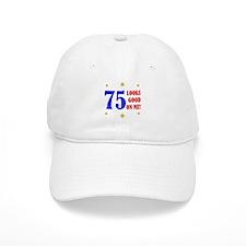 Fun 75th Birthday Baseball Cap