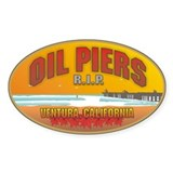 Oil Piers Ventura Ca. Oval Decal