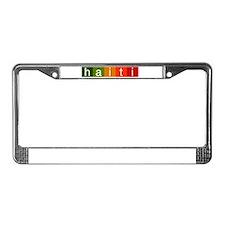 Cute Haiti relief License Plate Frame