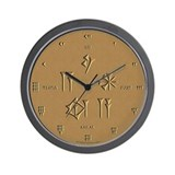 Time Flies (Sumerian/Latin) Wall Clock
