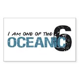 1 of oceanic 6 Rectangle Decal
