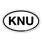 KNU Oval Sticker