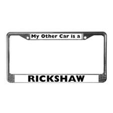 Cute Rickshaw License Plate Frame