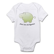 peace, love & hipponess Infant Bodysuit