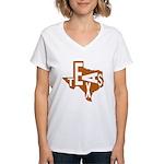 Texas Football Women's V-Neck T-Shirt