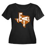 Texas Football Women's Plus Size Scoop Neck Dark T
