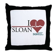 I Heart Sloan - Grey's Anatomy Throw Pillow