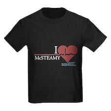 I Heart McSTEAMY - Grey's Anatomy Kids Dark T-Shir