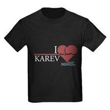 I Heart Karev - Grey's Anatomy Kids Dark T-Shirt