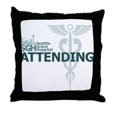 Seattle Grace Attending Throw Pillow