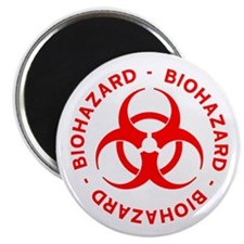 "Red Biohazard Symbol 2.25"" Magnet (10 pack)"