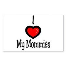 "I ""Heart"" My Mommies Rectangle Decal"