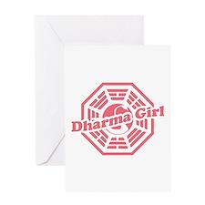 LOST Dharma Girl Greeting Card
