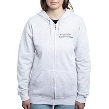 I get tired... - Grey's Anatomy Women's Zip Hoodie