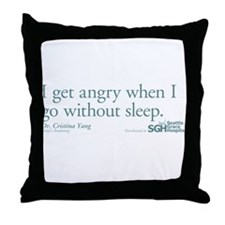 I get tired... - Grey's Anatomy Throw Pillow
