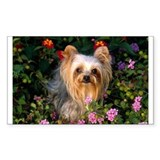 Flowered Rectangle Sticker 10 pk)