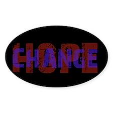 Change Hope Oval Decal