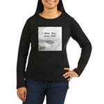 Knee-Mail Women's Long Sleeve Dark T-Shirt