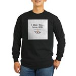 Knee-Mail Long Sleeve Dark T-Shirt